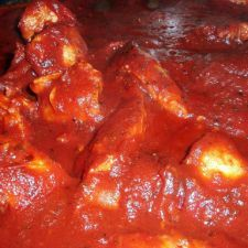 Paleo Chicken W Wine, Bacon and FIre Roasted Tomato Sauce