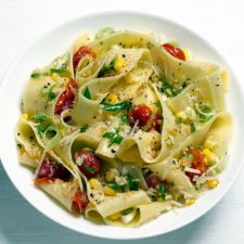 Pappardelle Pasta with Corn