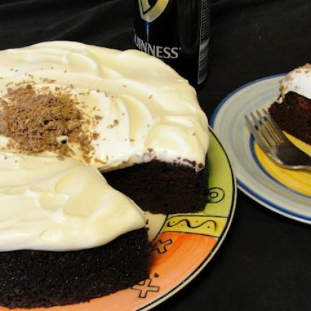 Chocolate Guinness Cake & Cream Cheese Frosting