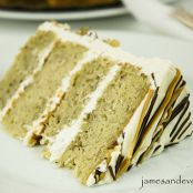 Banana Layer Cake with Vanilla Frosting
