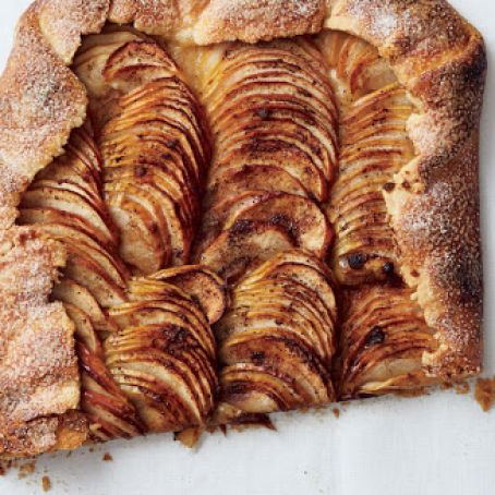 Salted Butter Apple Galette with Maple Whipped Cream