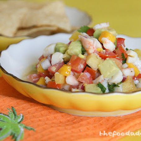 Shrimp, Scallop & Crab Ceviche with Chipotle & Avocado