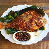 FISH - Grilled Fish Stuffed With Sambal