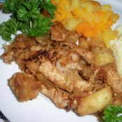 Pork Chops with Sauteed Apples and Sauerkraut