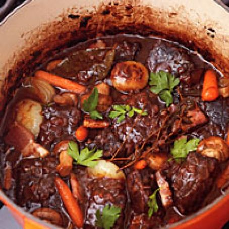 Jacques Pepin's Beef Stew in Red Wine Sauce