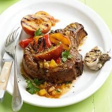 Peach-Glazed Chops