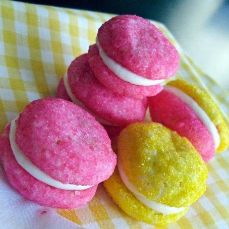 Glittering Lemon Sandwich Cookies