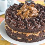 Orange Chocolate Praline Layer Cake