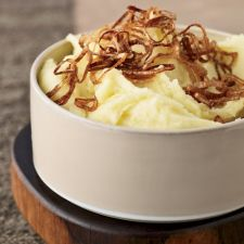 Mashed Potatoes with Crispy Shallots