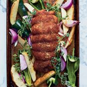 Ancho-Rubbed Turkey Breast with Vegetables