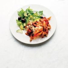 Baked Penne With Spinach and Sun-Dried Tomatoes