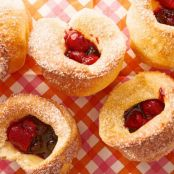Kids Can Make Popovers with Mixed-Berry Sauce