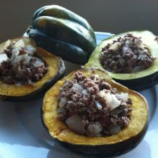 Beef:  Stuffed Acorn Squash with Ground Beef