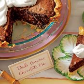 Chocolate Truffle Pie with Amaretto Cream