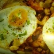 Spiced Egg with Tomato & Cannellini Beans