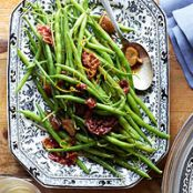 Green Beans & Pancetta with Browned Butter