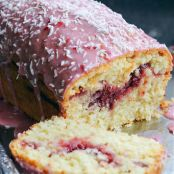 Raspberry and Coconut Loaf Cake