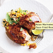 Asian Marinated Chick/Corn/Basil Faux Fried Rice