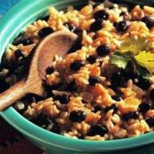 Cajun Black Beans with Yellow Rice