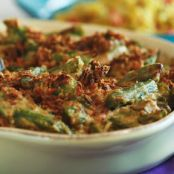 Green Bean Casserole with Celery Root and Bacon