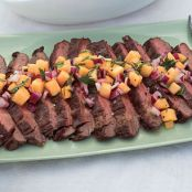 Tasty Flank Steak with Melon Relish