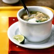 Posole Tomatillo Chicken and Hominy Soup