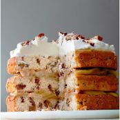 Three-Tier Candied-Pecan Cake with Brown-Butter Pears