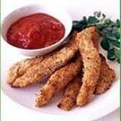 Parmesan Chicken Tenders with Marinara Dipping Sauce