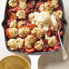 Fruit Cobbler with Cinnamon Ice Cream