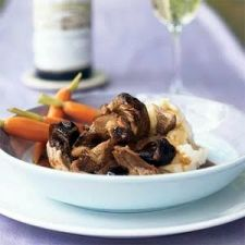 Braised Pork Shoulder in Hoisin-Wine Sauce with Dried Plums