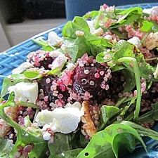 Beet & Quinoa Salad With Walnuts & Goat Cheese