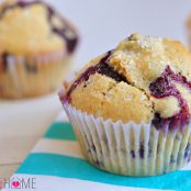 Blueberry Muffins with optional Cream Cheese Filling