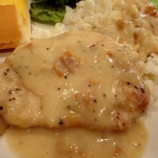 Pork Chops and Potatoes in Creamy Ranch Gravy