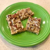 Salted Caramel Pecan Toffee Bars