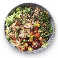 Tuscan Grain Bowl with Grilled Chicken and Broccolini