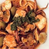 Adriatic Fish Stew with Clams, Squid, and Shrimp