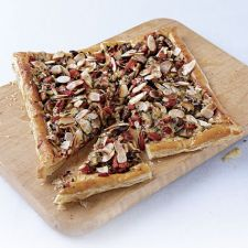 Shiitake & Roasted Red Pepper Puff Pastry Tart