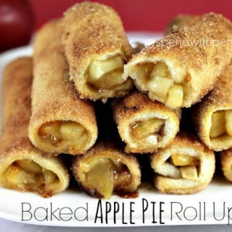 Baked Apple Pie Roll-Ups