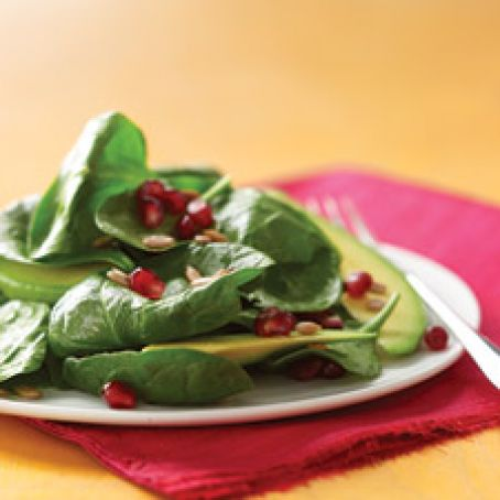 Spinach Salad with Pomegranate and Avocado