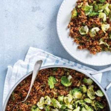 Brussels Sprouts and Lentil Rice