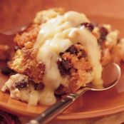 Sweet Potato Bread Pudding with Orange Sauce