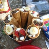 Waffle Cones on the Campfire