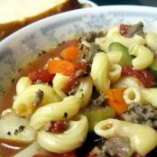 Hamburger Minestrone Soup