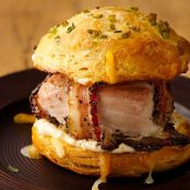 Peppered Bacon Wrapped Turkey Pub Sandwiches