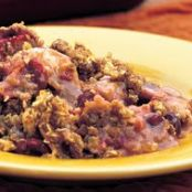 Apple-Cranberry Crisp with Warm Toffee Sauce