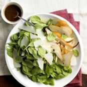 Spinach, Pear and Parmesan Salad