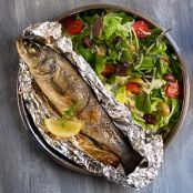 Campfire Trout (Dinner Cooked in Foil)