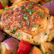 One Pan Cajun Chicken Dinner
