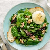 Alice Waters' Baked Goat Cheese & Spring Greens Salad