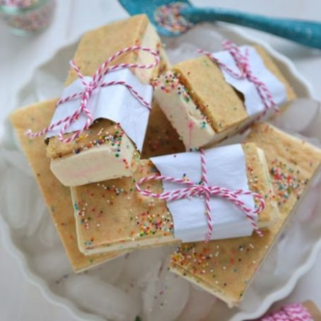 Homemade Birthday Cake Ice Cream Sandwiches